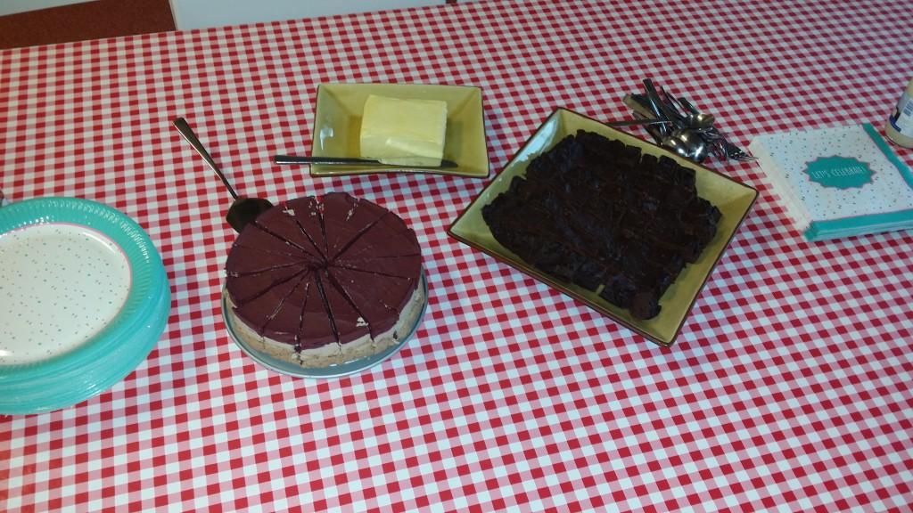 blauwe bessen cheese cake